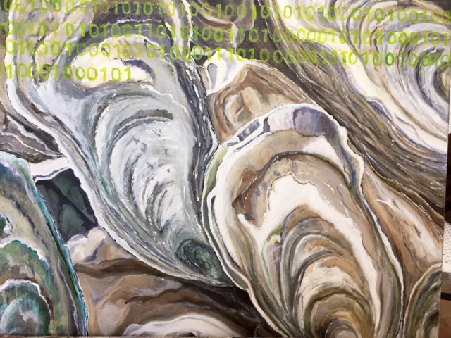 Toile : Vertes d'eau